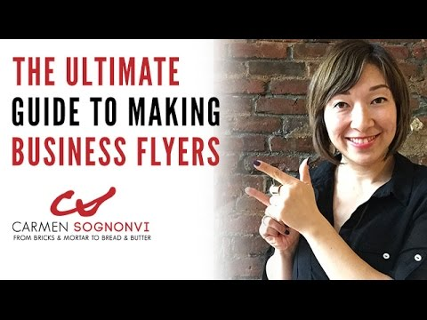 How to Make Business Flyers: The Ultimate Guide | Carmen Sognonvi