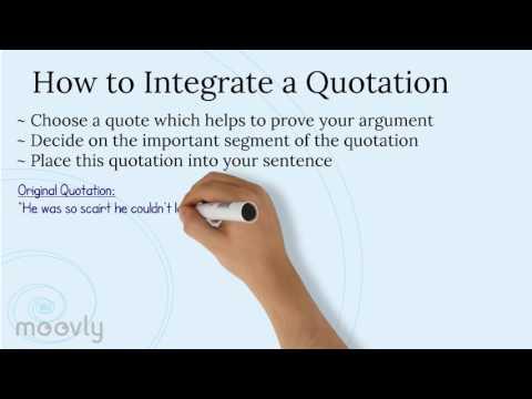 Integrating Quotes in Essays