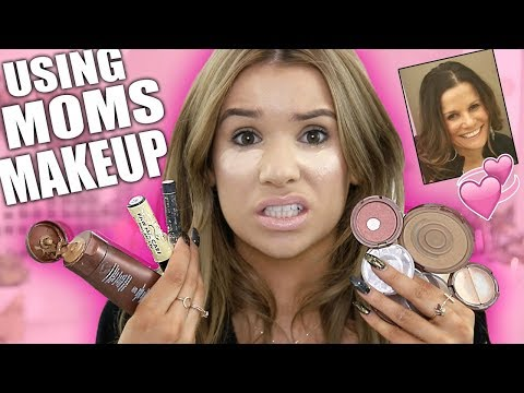 Full Face USING ONLY MOM'S MAKEUP Challenge!