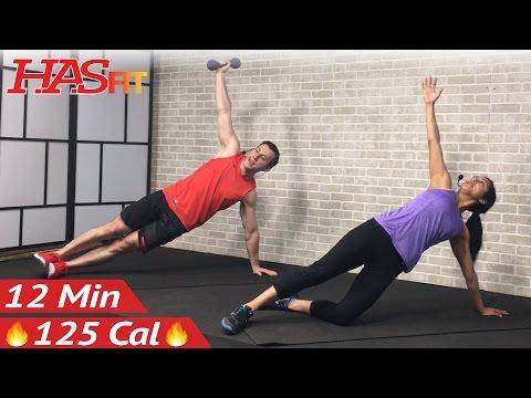 12 Min Oblique Workout to Get Rid of Love Handles - Oblique Exercises Lose Love Handles Men & Women