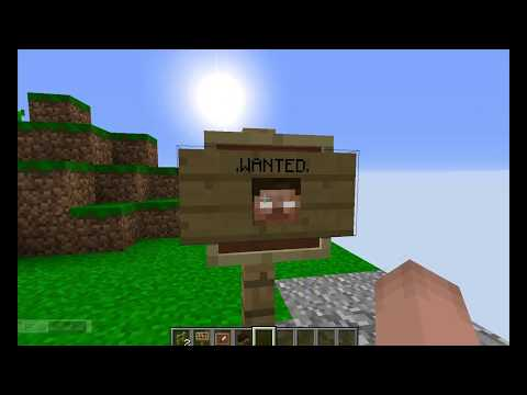 How to make a wanted sign in Minecraft!