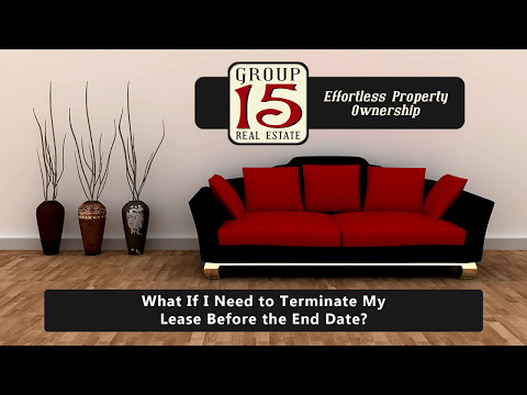 What If I Need to Terminate My Lease Before the End Date?
