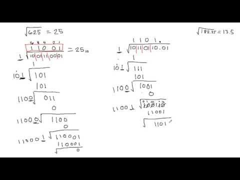 Square Root of Binary Number Tutorial