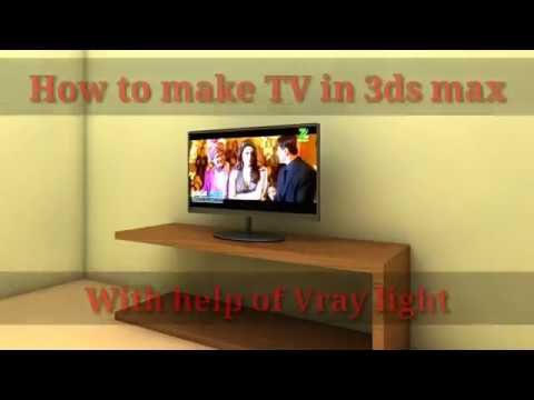 How to make TV screen using v-ray light in 3DS Max