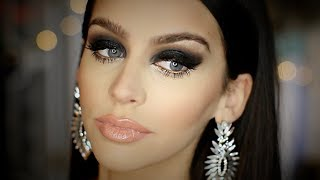 Black SMOKEY Eye | FULL FACE Makeup Tutorial | Heavy Glam