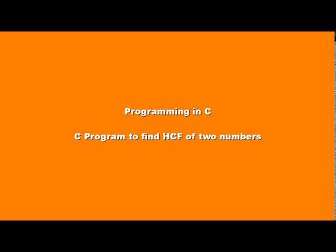 C Program to find HCF of two numbers given by user