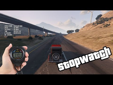 GTA V - Stopwatch for Testing Cars [Mod Showcase]
