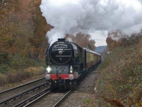 Two Steam Excursions through Addlestone Station - 02/12/2017