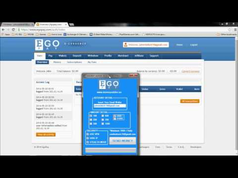 how to add money to your egopay account with a software