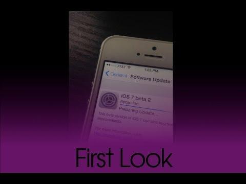 iOS 7 Beta 2 Update Animation