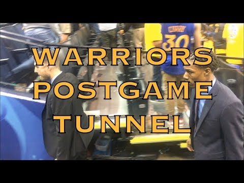 Postgame tunnel walk including Steph Curry and Patrick McCaw from Oracle Arena, 2018 WCF G4
