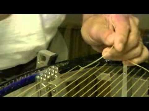 Racquet stringing knots