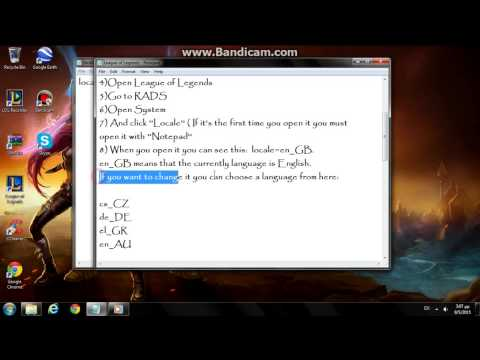 How to change language in League of Legends