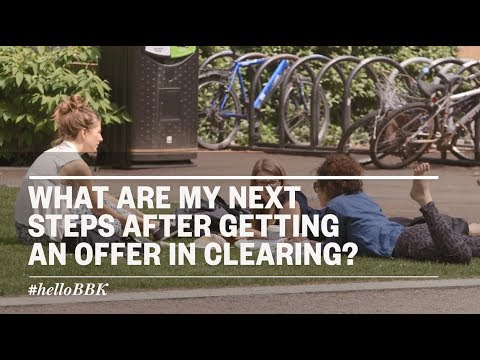 What are my next steps after getting an offer through clearing?