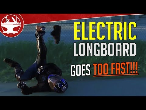 Electric Longboard goes WAY TOO FAST!