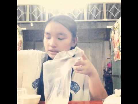 DIY ice cream plastic bag