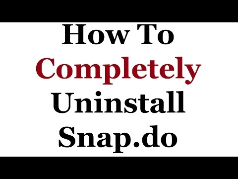 How To Completely Uninstall Snap.do From Windows 7