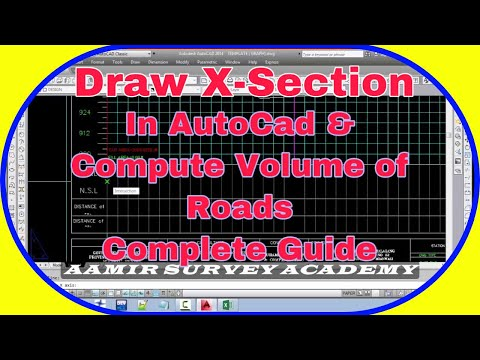 How to Draw Cross section in AutoCad Manually and Calculate Earth work Quantities Quantity Survey