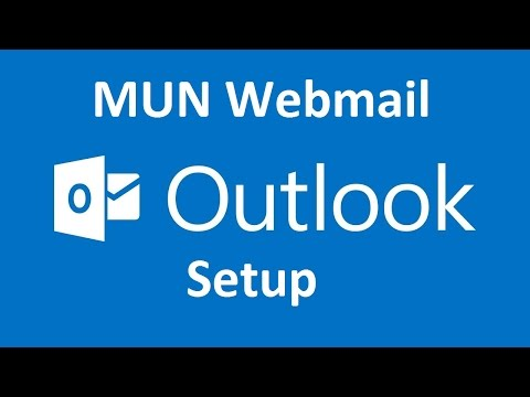 How to add MUN Webmail account to Outlook 2013/2016
