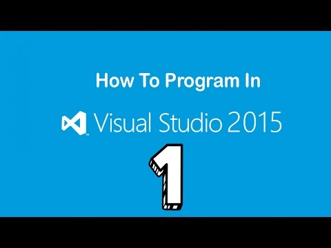 Visual Studio 2015 | How To Program | Creating the first app