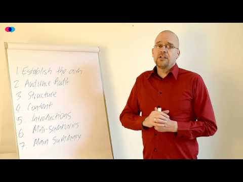 EFL.training modules. Public Speaking: The Seven Steps of a Presentation