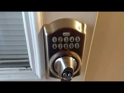 Programming Schlage Door Lock to Add and Remove Code Learn in 90 Seconds