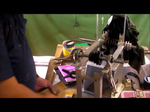 Building the Gingery Milling Machine 52, the motor rail legs