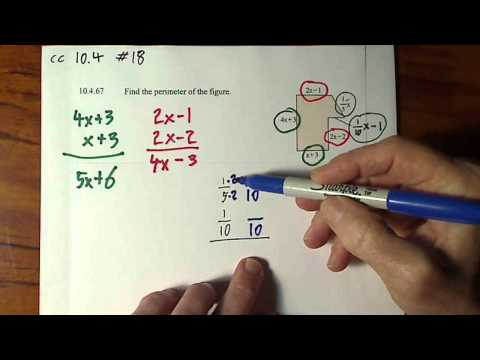 Find Perimeter of Figure with Variables and Fractions #1