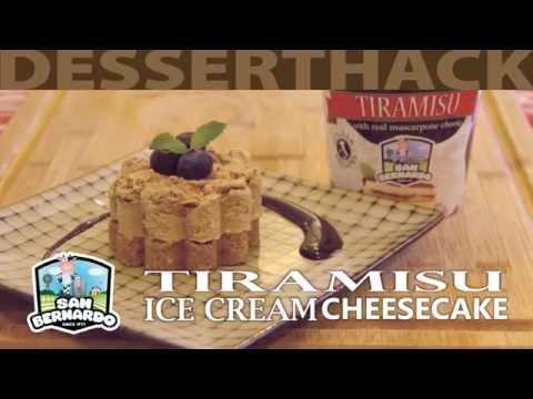 Tiramisu Ice Cream Cheesecake - 30 sec DESSERT HACK