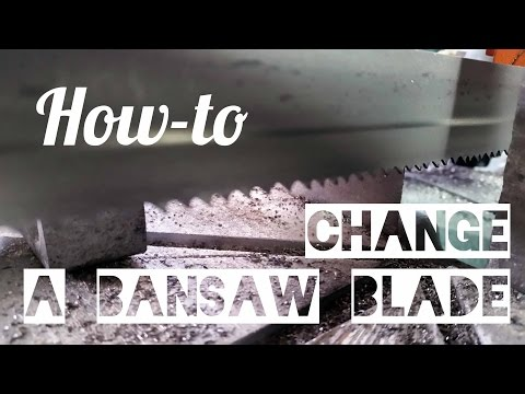 How-to Change a Bandsaw Blade - Ellis 1600