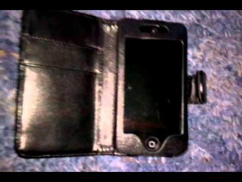 ea8a26268dc Review and Seting up Video of Black Leather Case Pouch For iPod Touch 4 4G