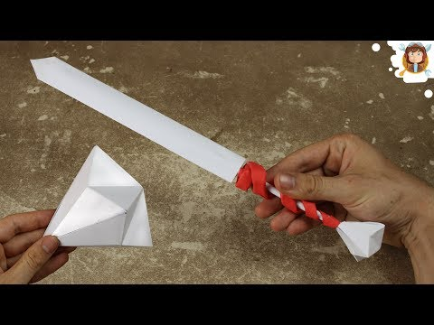 How to make a Paper Diamond - (Paper Sword / Easy)