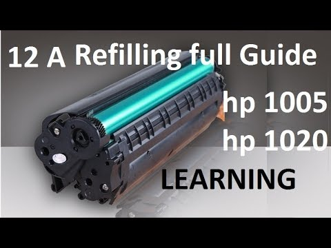 How to refill HP Laser Jet printer Cartridge at home, HP 12 A cartridge international standards..