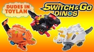 Vtech dinosaur transformers toys Switch & Go Dinos Turbo review battle fighting Fray Dart Zipp