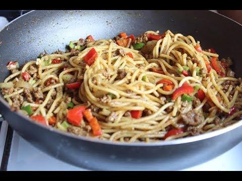 Beef Recipes - How to Make Spaghetti  with Ground Beef| PRECIOUS CHUKWU n NIGERIAN RECIPE .