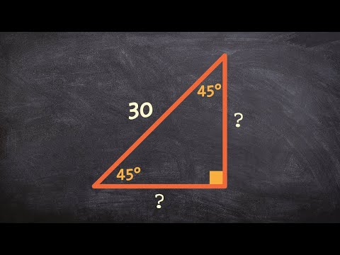 How to find the legs of a special right triangle when given the hypotenuse