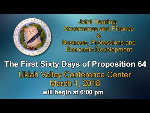 JOINT HEARING GOVERNANCE AND FINANCE AND BUSINESS, PROFESSIONS AND ECONOMIC DEVELOPMENT