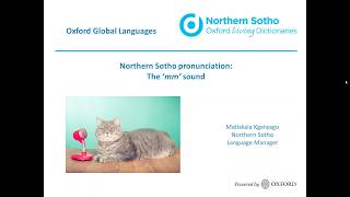 Oxford Northern Sotho dictionary: the 'mm' sound