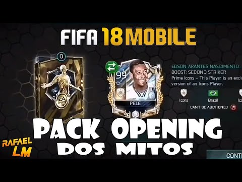 PACK OPENING FIFA 18 MOBILE TOP 5 PEGANDO JOGADORES PRIMER LEGENDS / ANDROID & iOS /