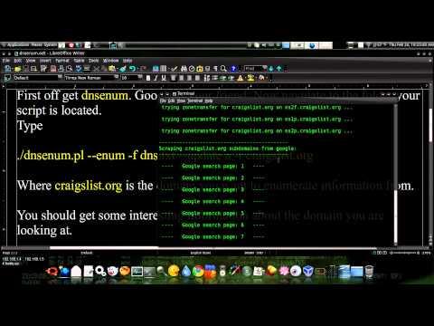 Gathering Domain Information With Dnsenum Ubuntu 10.04