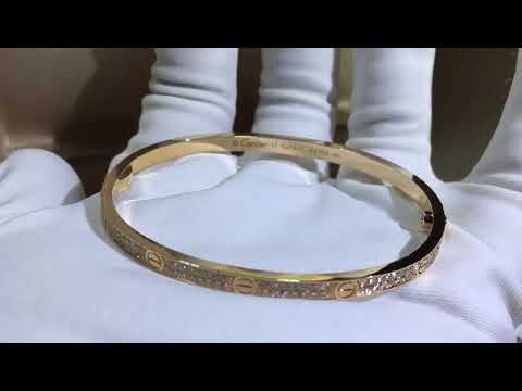 cartier LOVE BRACELET SM YELLOW GOLD DIAMONDS