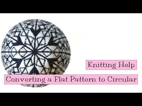 Knitting Help - Converting a Flat Pattern to Circular