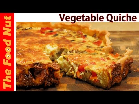 Vegetable Quiche Recipe - How To Make Vegetarian Quiche With Egg & Veggie 4 Breakfast | The Food Nut