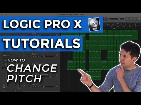 Logic Pro X Tutorials - How to Change Pitch in Logic Pro X