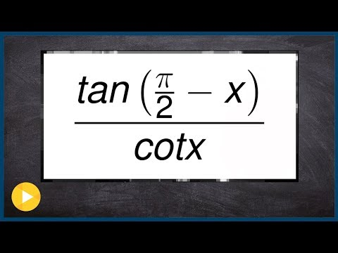 Using the cofunction identities to simplify a trig expression