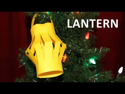 How to make a paper lantern. DIY Christmas crafts for kids children video tutorial
