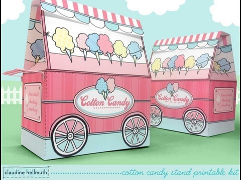 make a cotton candy stand candy box party treat box
