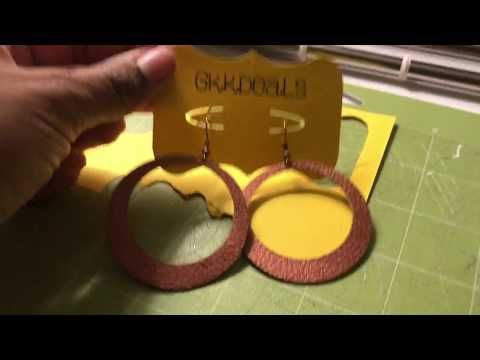 How to make earring cards on Design Space and Cricut Explore Air 2