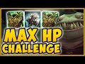 ACHIEVING HIGHEST HYDRA PROC POSSIBLE MAX HP TAHM KENCH IS 100 DUMB League Of Legends Gameplay