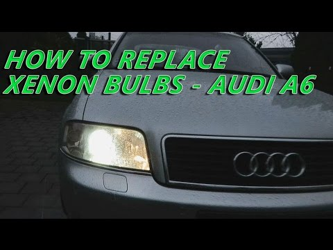 AUDI A6 XENON BULBS Replacement - How To Remove Xenon Bulbs From Audi A6